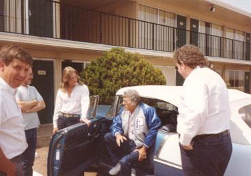 Carl Perkins arrives in Clovis